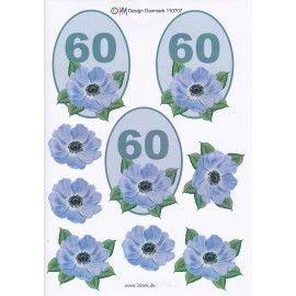 3D-ark-60 år-fødselsdag-kort