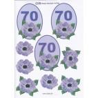 3D ark til 70 år fødselsdag, lilla
