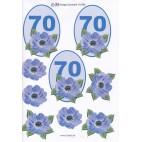 3D ark til 70 år fødselsdag, blå