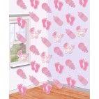 Barnedåbspynt lyserød loft dekoration