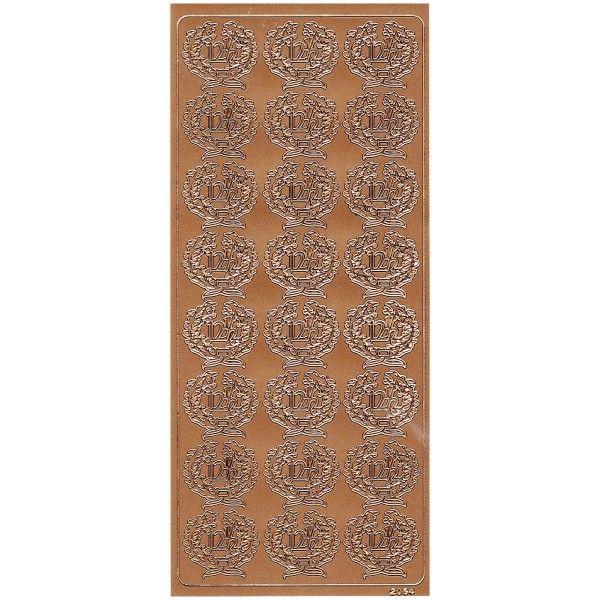 Stickers med 12½ i kobber