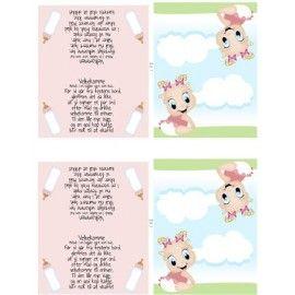 Barnedåb-bordkort-pige