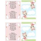 Barnedåb bordkort med pige