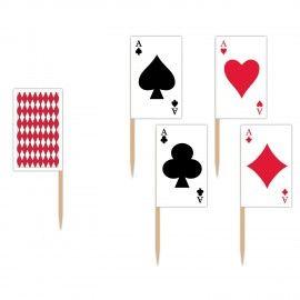 Casino-pynt-kort-på-pinde