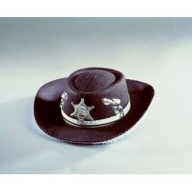 Sort sheriff hat