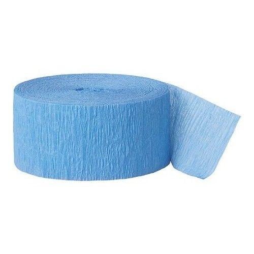 Crepepapir ruller, lyseblå