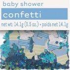 Barnedåb og Baby Shower konfetti blå