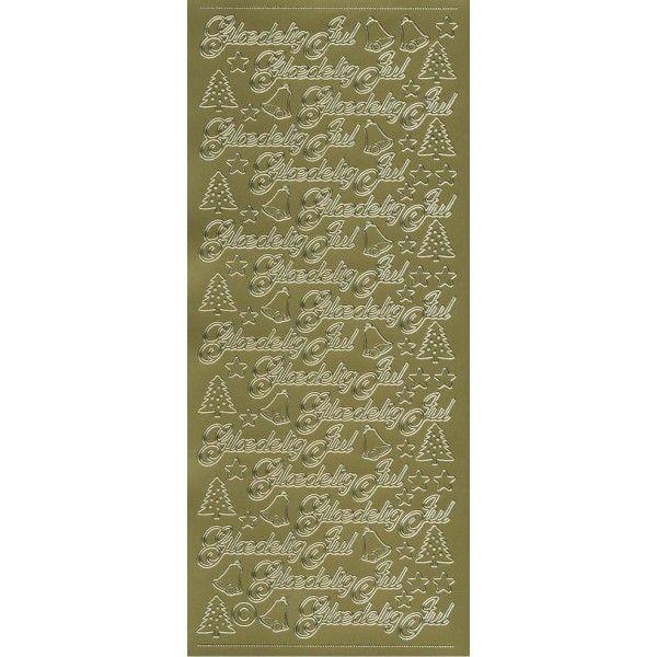 Stickers med glædelig jul guld 654