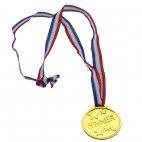 Guld medaljer i plastik, 1 stk