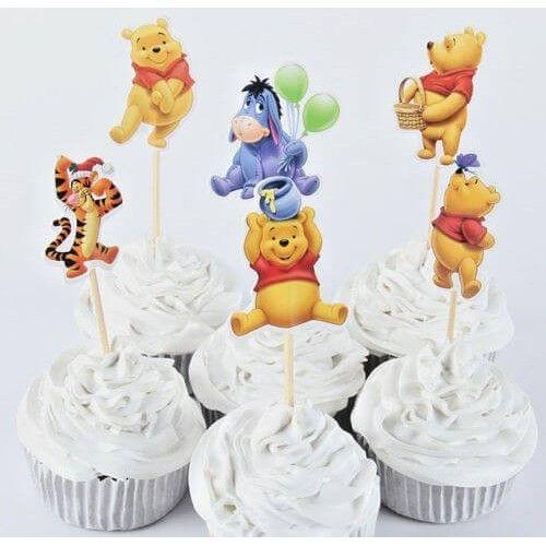 Peter Plys cupcake pynt