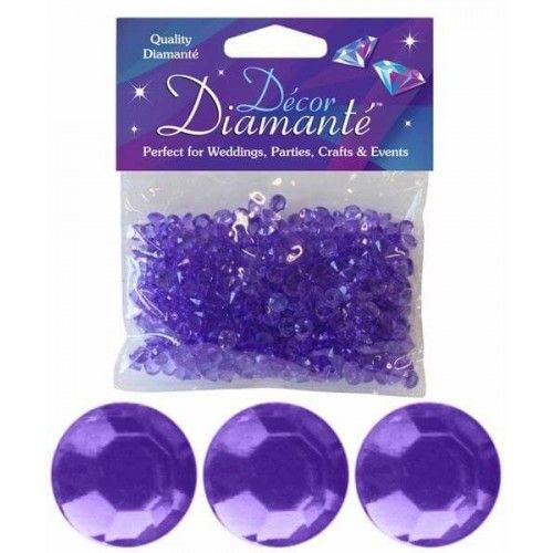 Pynte diamanter, lavendel, 6 mm