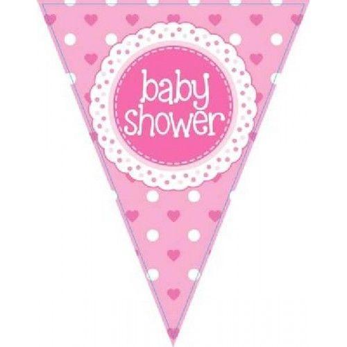 Baby Shower vimpel guirlande 3.9m pige