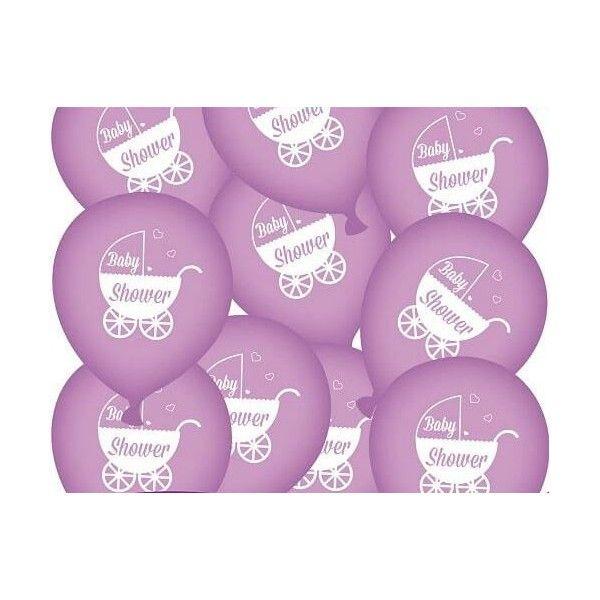 Baby shower balloner lilla, 1 stk