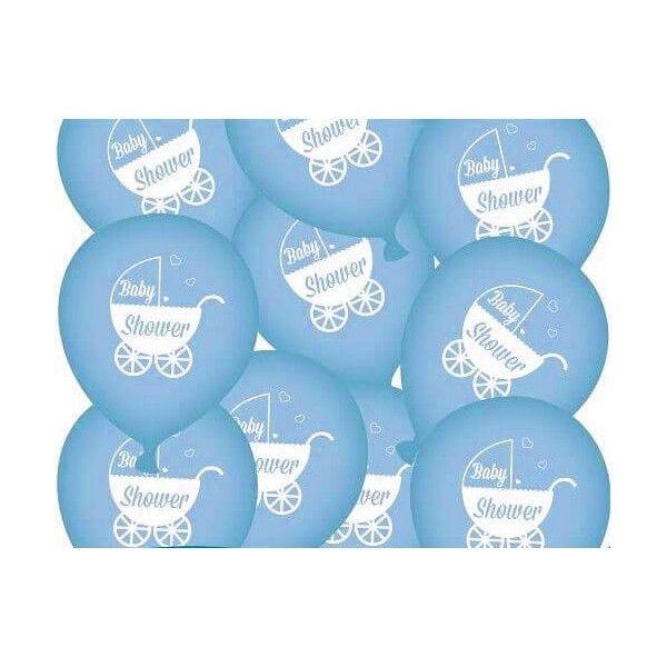 baby shower balloner dreng, 10 stk