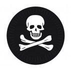 Pirat paptallerken 23 cm, 1 stk