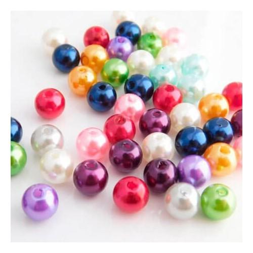 Perler runde 8mm imiteret