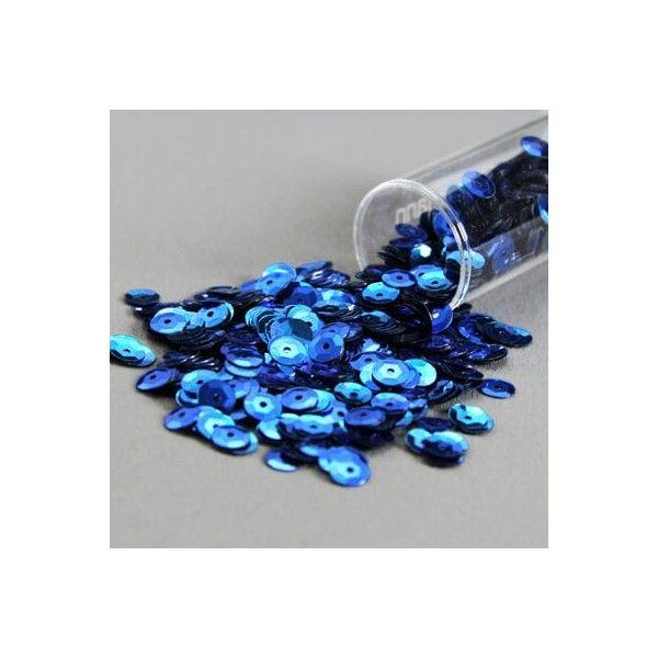 Palietter blå 6mm