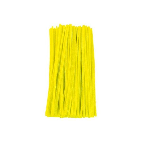 Chenille piberensere gul 6mm 30cm