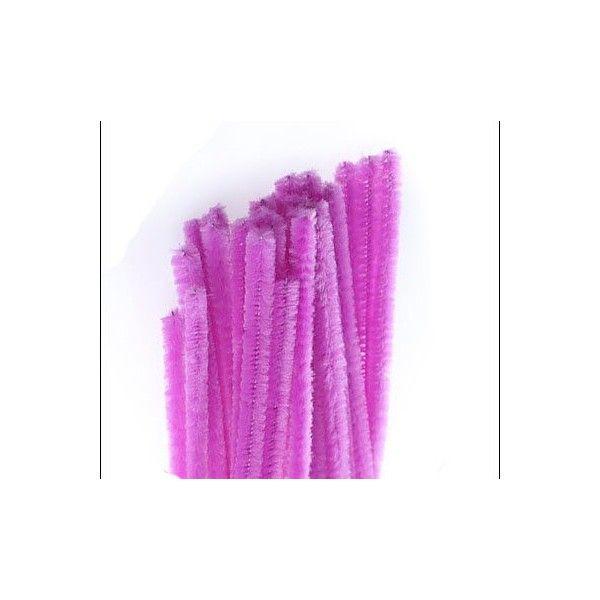 Chenille piberenser lilla lavendel 6mm 30cm