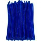 Chenille piberenser blå 6mm 30cm