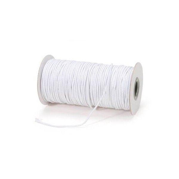 Elastiksnor hvid 1,2mm 5 meter