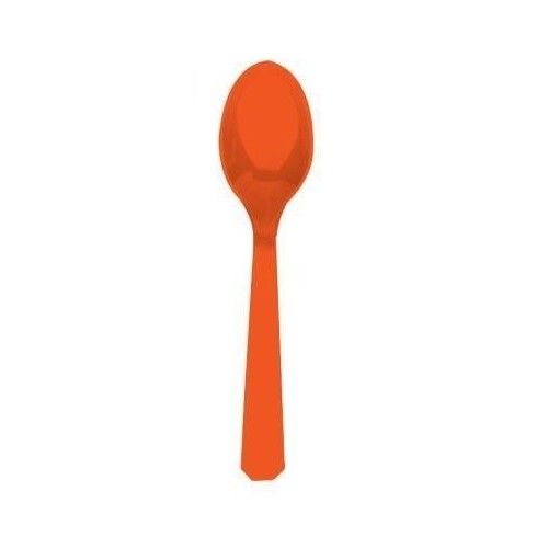 Orange ske i plast, 1 stk