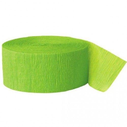 Crepepapir rulle, lime grøn