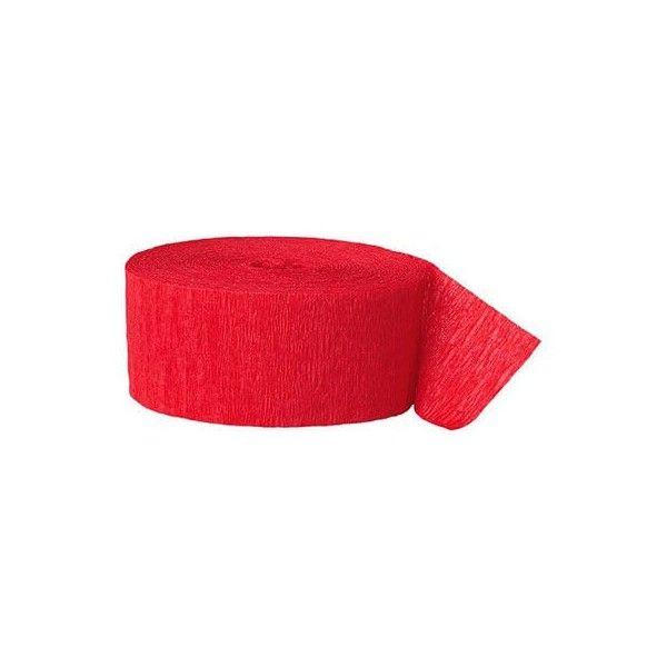 Crepepapir ruller, rød