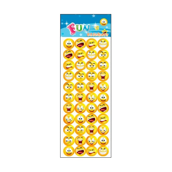 Stickers med smileys