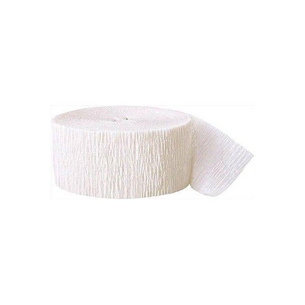 Crepepapir rulle, hvid