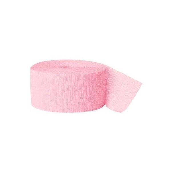 Crepepapir rulle, pastel pink