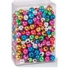 Perler runde metallic mix 6-8mm 20g