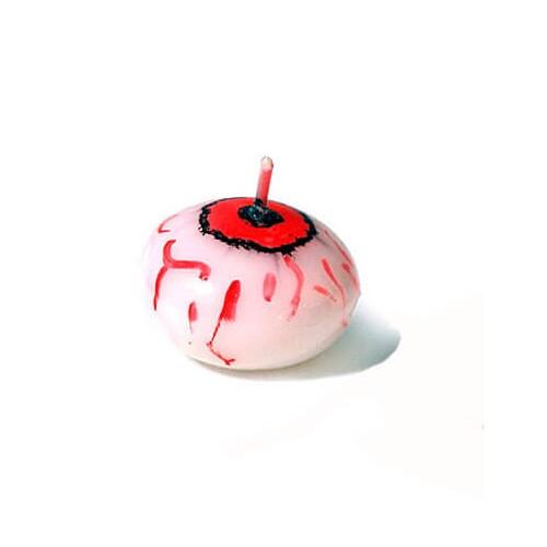 Halloween pynt, flydelys med blodigt øje