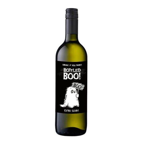 Flaskeetiketter - Boo - Halloween