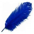Strudsefjer blå 20cm