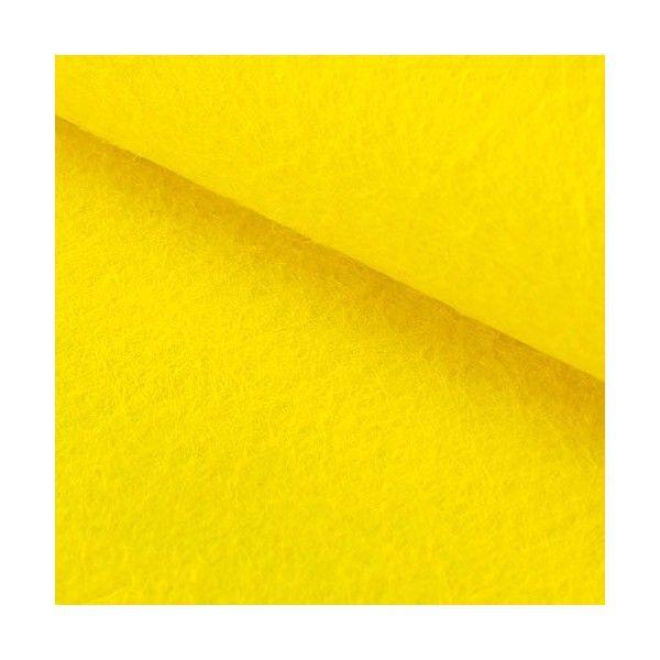 Hobbyfilt gul 1mm selvklæbende 2 stk