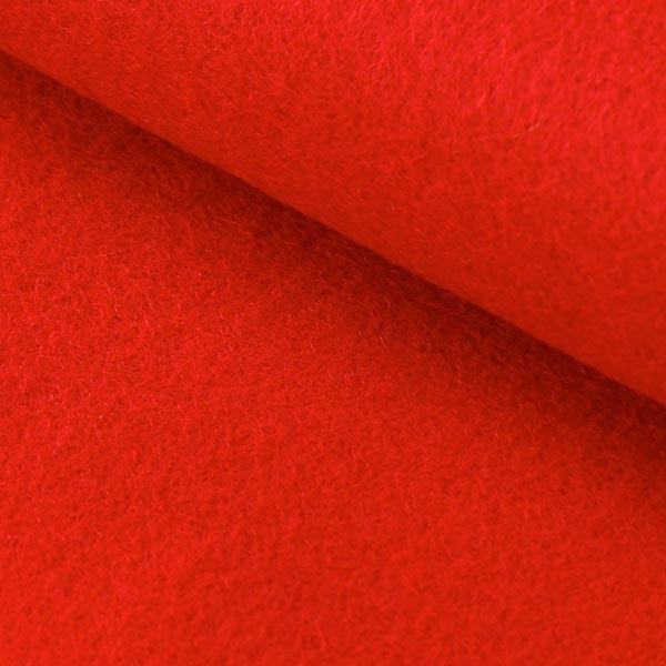 Hobbyfilt rød 1mm selvklæbende