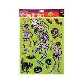 Halloween stickers med skelet