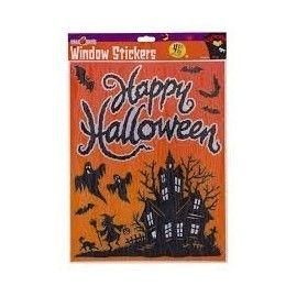 Halloween stickers med spøgelseshus