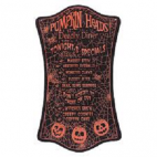 Halloween menu skilt, sort