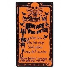 Halloween menu skilt, orange