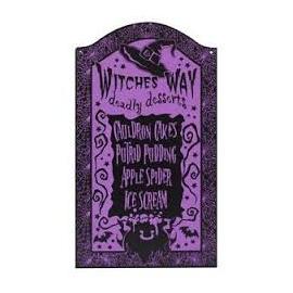 Halloween menu skilt, lilla