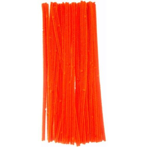 Chenille piberenser orange 6mm 30cm