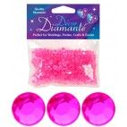 Pynte diamanter, Pink, 6mm