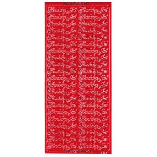 Stickers med glædelig jul rød