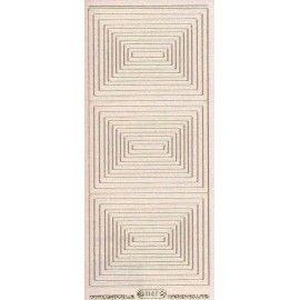 Stickers med firkanter guld 1147