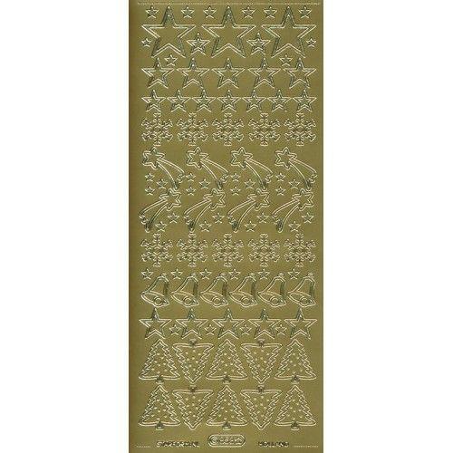 Stickers med jule motiver guld 853
