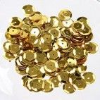 Pailletter 6mm guld 500 stk