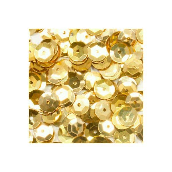 Palietter 6mm guld 500 stk