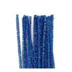 Chenille piberensere blå glimmer 5mm 30cm 10 stk